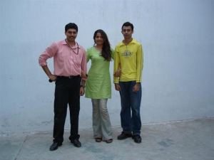 "You have probably heard of the ""Twin Towers"" - Here we have three: Kalyan, Amrita and Yours truly... during IEM days"