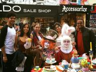 Mad Tea Party in Camden Wonderland with Rini, Shibani, Romil, Amit, Mad Hatter and the March Hare