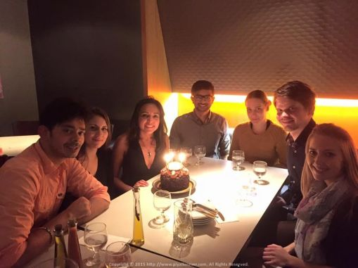 Great food, Awesome company... Celebrating Rini's Birthday with some lovely people including Ashish, Zoe, Lubos, Dominica and Lucia