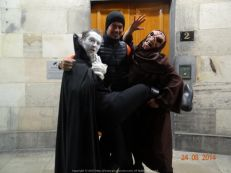 After a fascinating Ghost Walk in the mean streets of Edinburgh with the Late Mr. Adam Lyal (deceased since the early 1800s)