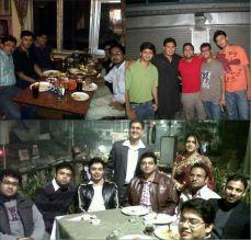 Always a pleasure to meet school friends... Calcutta Boys School (CBS)... A for Apple, B for Ball, C for CBS... Best of all!