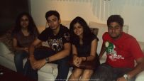 At Afraa with Poulomi, Pushkar and Tapamiti Sneaking out for a drink during an office party