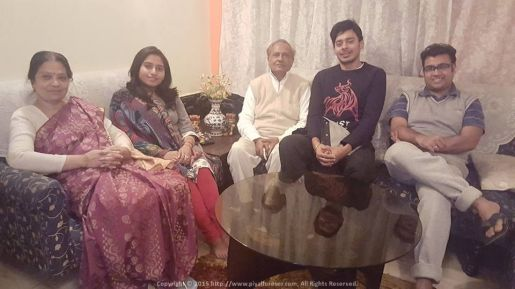 At Aritra's place with Binoy Kaku, Kakima and Anindita... one of my favourite places to be in Saltlake Kolkata