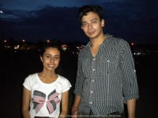 At Besant Nagar Beach, Chennai with the cutest friend one can ever have Chiru…