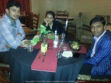 At Magnolia Park Street Kolkata with two very intelligent people I know… Sushmita & Kabilan