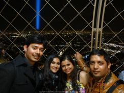 Atop the one and only Eiffel Tower with Sush, Bebo and Sontu Dada... Amazing spectacle of the City of Lights