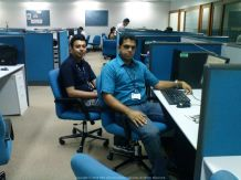 Bad boys at their best behaviour... With Ganesh at our Satyam Office in Tidel Park, Chennai (#MyFirstJob)