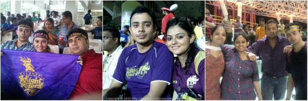 Cheering for my team Kolkata Knight Riders (KKR) in IPL Cricket League at home (Eden Gardens) and away matches