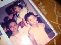 Classic childhood pic of Sunny Didi, Mimi & myself... We were forced to pose in this one I reckon!