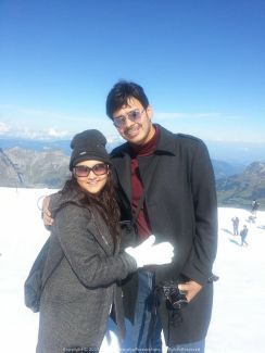 Classic Snap with Sushmita atop Mt. Titlis, Switzerland