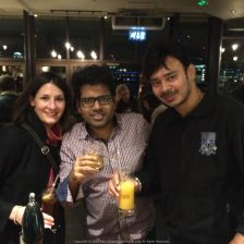 Drinking near The Thames with Aureilie and Bijit @ The Founders Arms Pub near Blackfriars, London