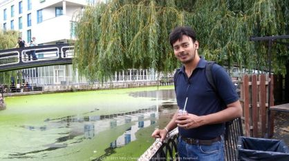Enjoying Sangria at the very beautiful Camden Lock in London