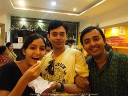 Enjoying sweets at KC Das Bangalore… With Tanu and Subhankar