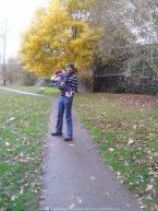 Enjoying the perfect Fall experience with my little niece at Windermere, Lake District