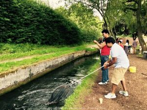 Fishing with Bijit and Richa at Birbury Fish Farm in Cotswold