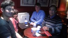 Good to meet Anand Sir, Geoffrey Sir and Alka Ji in London… Its always good to meet people from India outside India