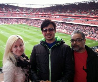 Halftime Heat at Arsenal versus Crystal Palace Football Match with Ayaz and Katarina