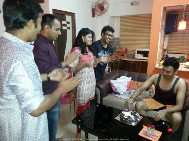 It was truly special to have friends from different walks of life (Aritra, Subhakar, Poulomi, Sudipto) come over to my place in Lake Town to wish me on my birthday