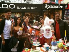Mad Tea Party at Camden Market with Rini, Shibani, Romil, Amit, The Mad Hatter and March Hare
