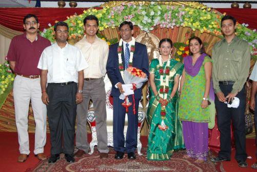 My first Chennai wedding... I mean Prem's wedding... Featured here are many of my Satyam colleagues including my first manager Ritesh