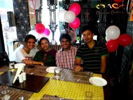 My wonderful cousins during my Birthday Celebrations at OMG Kolkata