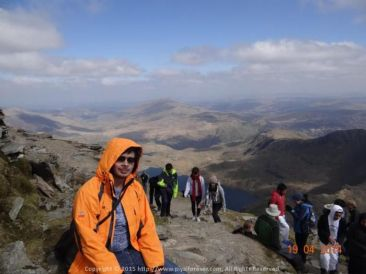 On top of the world… Atop the breathtaking Snowdonia Peaks in North Wales
