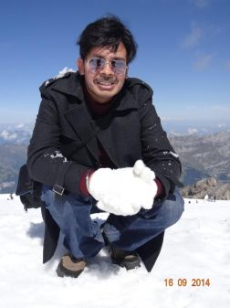 Playing with Ice atop Mt. Titlis Switzerland... Quite a dream come true for me