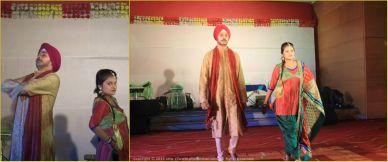 Punjabi Punch - Privileged to walk the ramp at Fashion Show, Cognizant Kolkata with the fashion queen Debleena (DJ)