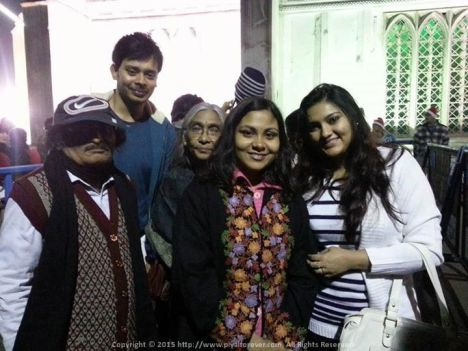 Queuing up for the customary Christmas Eve at St. Paul's Cathedral Kolkata with Mama, Mami, Tua and Sushmita