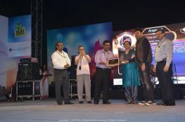 Receiving the QEA Frontier Award at Mesmerize Ceremony 2013 in Kolkata