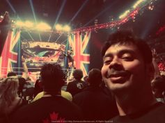 """Selfie with the one and only Randy Orton on a London edition of Monday Night Raw 2015: """"You can take a swing at my ego, you can make a run for my crown... Even if your stand makes me nervous, you ain't gonna take us down!"""""""