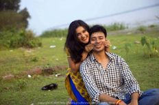 Smiling with Sushmita (that's what her name means btw) during a photo shoot outside Kolkata