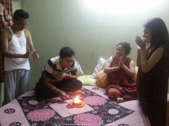 Sometimes a makeshift Birthday cake with Candles on Bread makes it as special as ever... especially if spent with family!