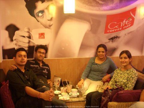 Superstars at High Tea... or should I say, Coffee at Indiranagar Bangalore
