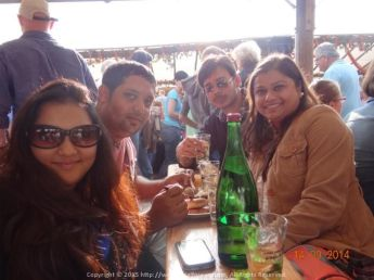 """Tasting the yummy white wine """"Gewürztraminer"""" for the first time and we totally fell in love with it at the Mannheim and Bad Durkheimer Wine Festival, Germany"""