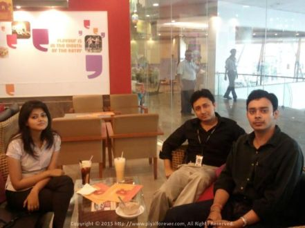 Business Analyst team in Kolkata – With Nilotpal and Poulomi here in CCD Technopolis Kolkata