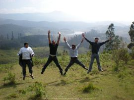 Up in the Air... With Aditya, Priyesh and Puneet @Kodai Kanal during an amazing trekk