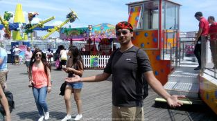 Welcome to Brighton Pier… Notice my colorful bandana here… One of the many I love to wear