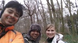 With Anurag and Lana during a hiking day out @ Kent