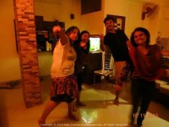 With Bebo, Titli, Mimi and Sush at the memorable all night Spinster Party (not sure how I got a pass) at our Lake Town home@Kolkata