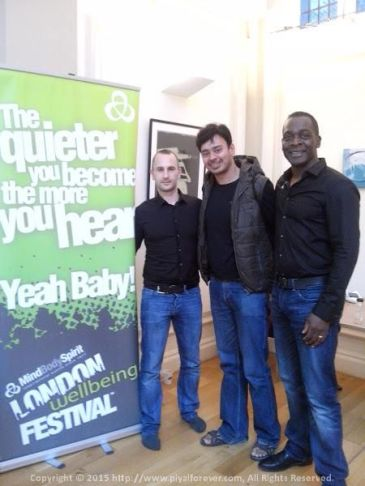 With Derek and Michael @ London Wellbeing Festival