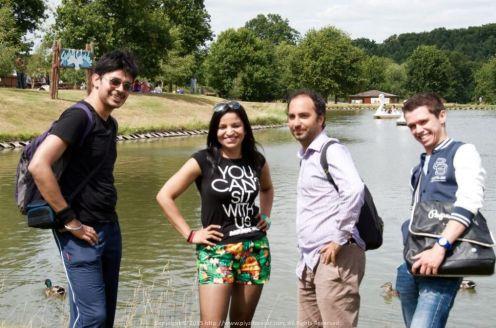 With Geet, Mattias and Raphael at Woburn Safari Park UK