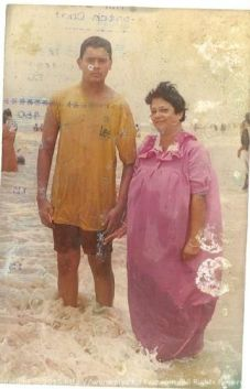 With Ma during one of our summer trips to Digha