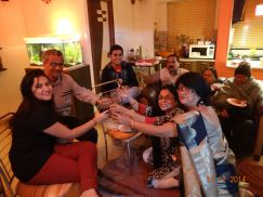 With my family at our Lake Town flat for New Year 2015