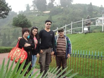 With my in-laws in Darjeeling... Grateful to have such good people in my life
