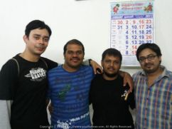 With Priyesh, Shyam and Vatsu (reminiscent of my CCRAZY Chennai Gang) during PM's Pan India tour