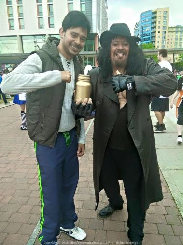 With the legendary Undertaker at the London Comicon 2015 at The Excel Exhibition Centre