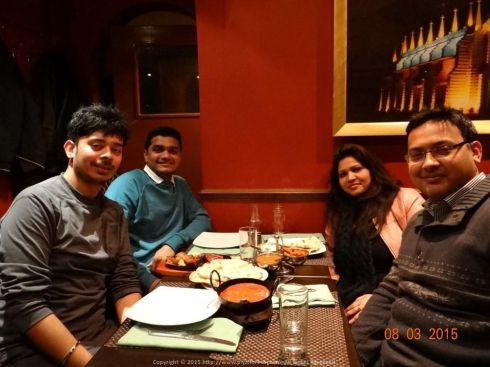 The original London Wanderers (Saayak, Shibani and Rohit) at Palms of Goa restaurant, London
