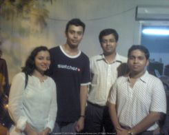 With the one and only BBM Sir along with Saptarshi and Dahlia during IEM Reunion