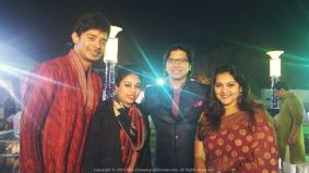 Bumped into the smiling voice of India... Shaan, at a wedding party